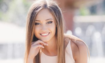 woman with beautiful professionally whitened smile